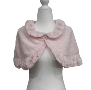 DISNEY PARK'S Girl's Faux Fur Pink Shawl